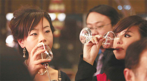 red wine in china