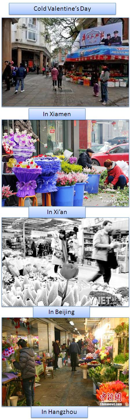 Cold Valentine's Day in China