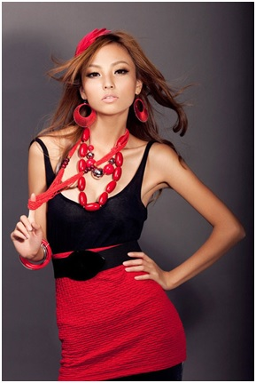 Chinese girl in red