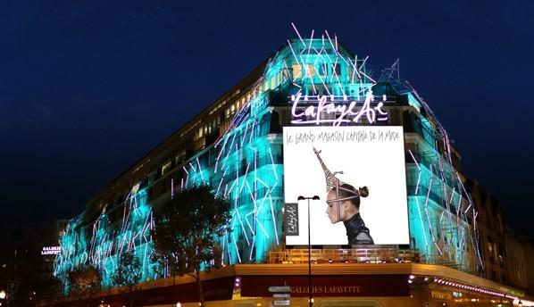 Swarovski Crystal Palace into the Galeries Lafayette Beijing.