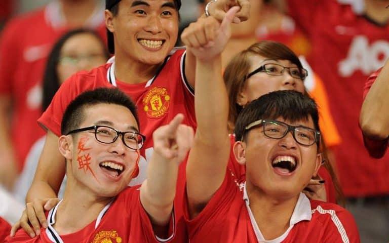 Top 5 football teams on social media in China