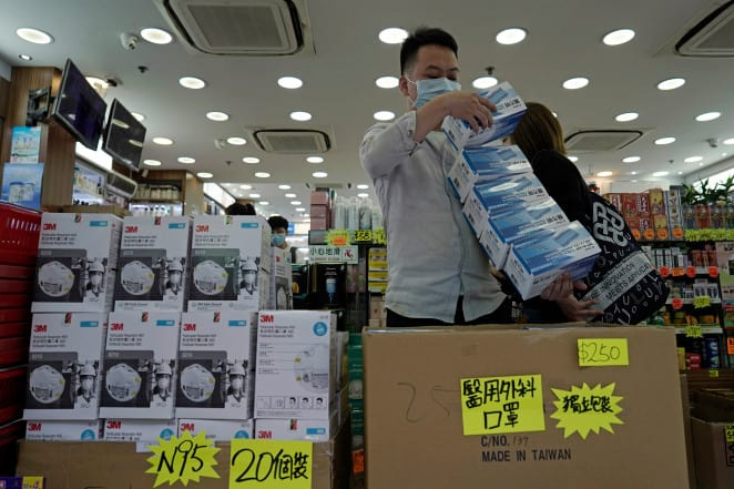 Huge demand of face masks in China