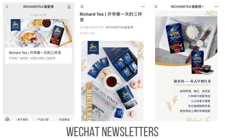 WeChat newsletter – Emailing