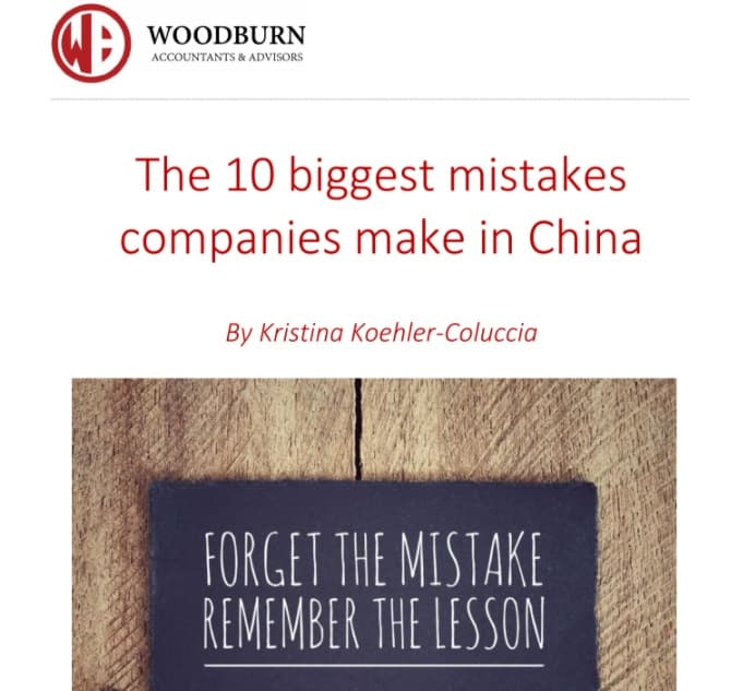 ebook : The 10 biggest mistakes companies make in China by Kristina Coluccia