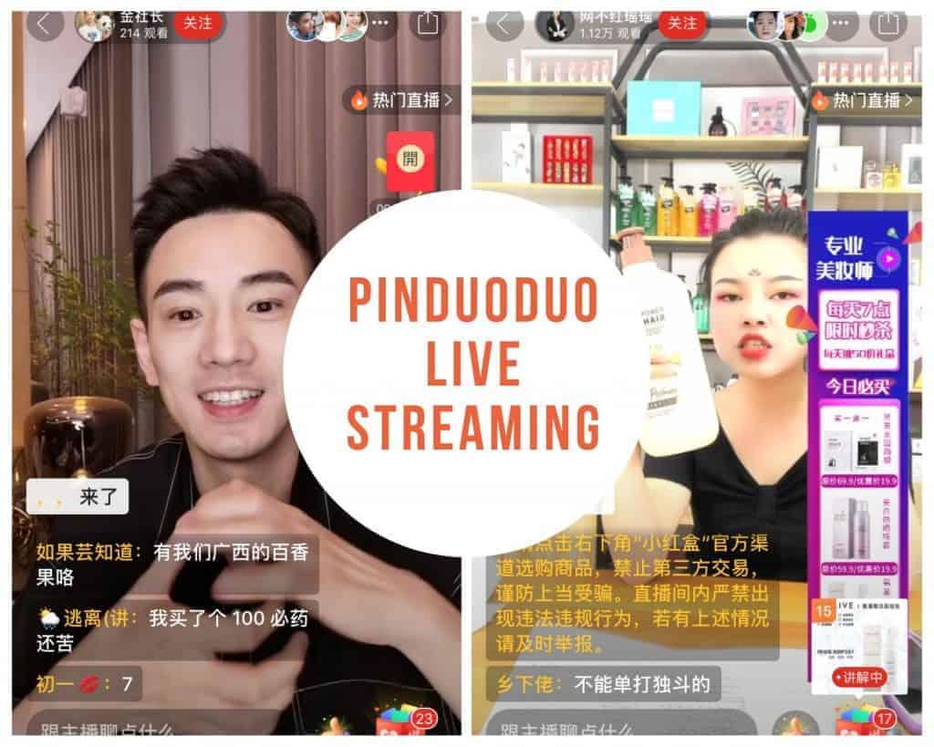 china ecommerce - pinduoduo live streaming ecommerce