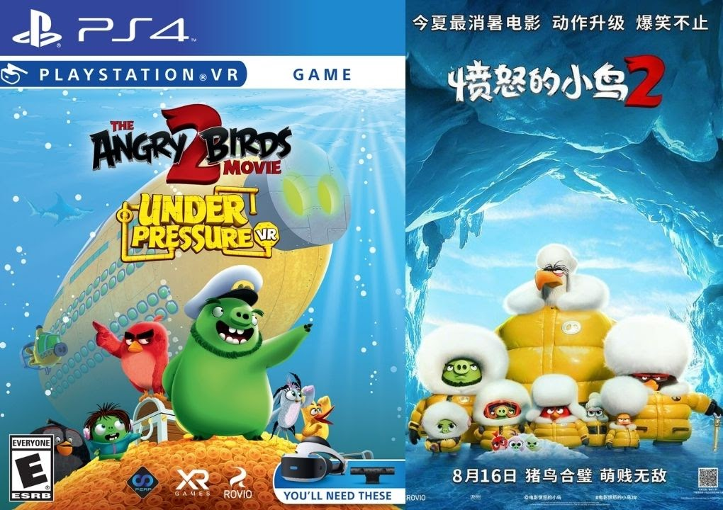 The famous video game Angry Birds and its movie adaptation