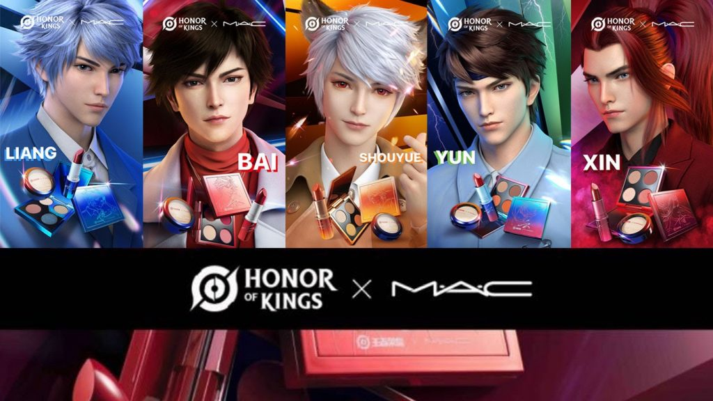 china brand collab Honor of Kings and MAC