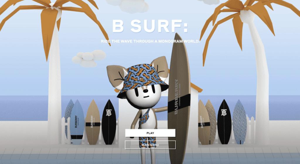 ('B Surf Game' © Burberry)