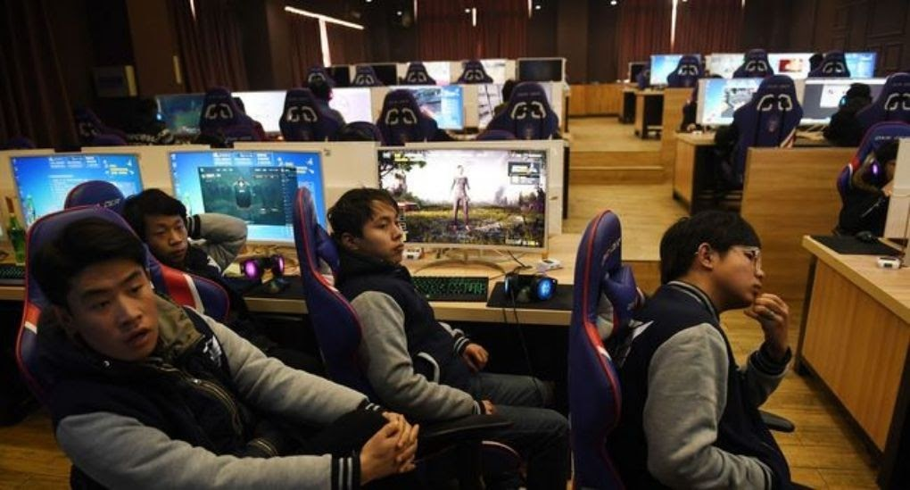 Students majoring in 'eSports and Management' at the Lanxiang Technical School in Jinan, Shandong