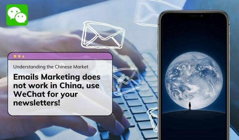 Emails Marketing does not work in China, use WeChat for your newsletters!